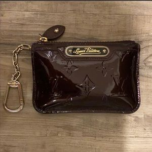 Louis Vuitton Key Pouch in Monogram Vernis Leather